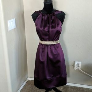 Vera Wang Maids Wine Short Gown
